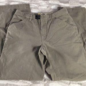 Mountain Hardwear tan taupe hiking pants 31/32